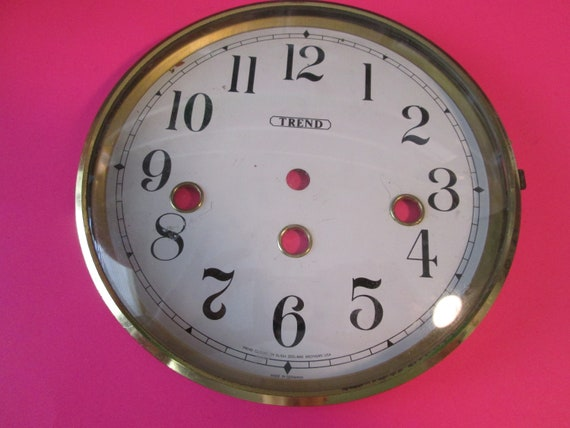 "6"" German Made Trend Brand Clock Dial with Brass Bezel and Domed Glass for your Clock Projects and etc..."