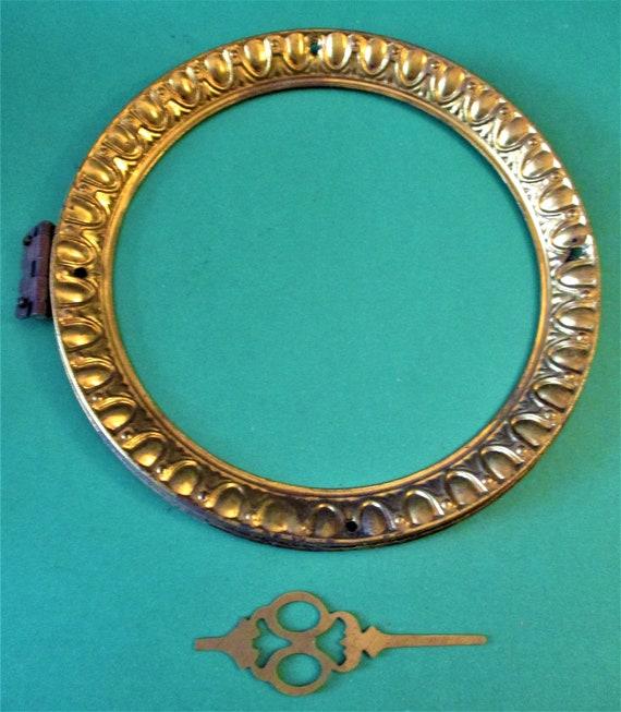"5 1/2"" Antique Fancy Pressed Solid Brass Front Clock Bezel - No Glass - Stk# 282"