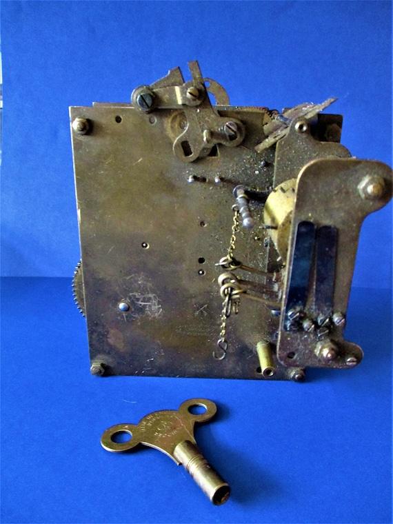 Large German Made Hamburg Amerikanische Uhrenfabrik Partial Cuckoo Clock Works with Key for Repair/Parts - Steampunk Art - Stk# 614