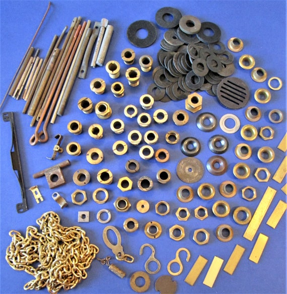 Nice Steampunkers Lot of Assorted Vintage Clock Hardware for your Clock Projects - Jewelry Crafts and Etc..Stk#93