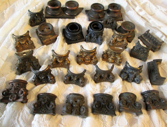 28 Assorted Antique Cast Metal Mantle Clock Feet for your Clock Projects - Steampunk Art - Metalwork