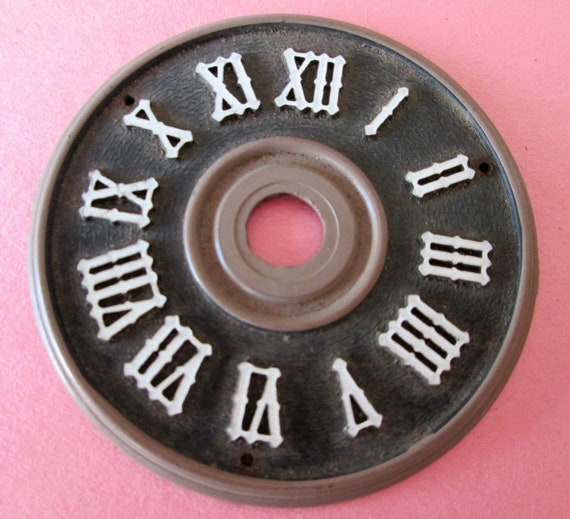 "2 1/4"" Plastic German Made Dark Brown and Tan Cuckoo Clock Dial with 1/4"" Roman Numerals for your Clock Projects - Crafts"