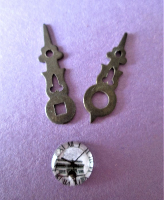 1 Pair of Small Dark Gold Metal Cuckoo Clock Hands for your Cuckoo Clock Projects - Art -
