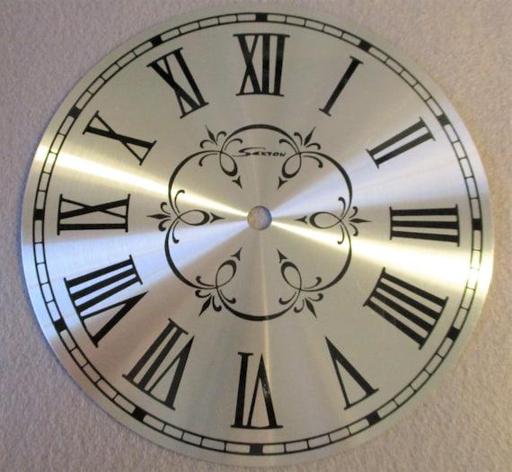 "6"" Fancy New Shiny Aluminum Sexton Clock Dial Stk# 828"