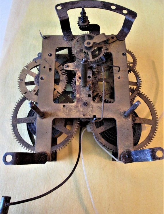 Large Antique E. Ingraham Co. Clockworks for your Clock Projects and etc..Stk#265