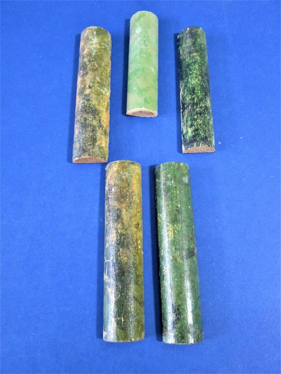 5 Assorted Original Wood Mantle Clock Ornamental Columns for your Clock Projects - Art - and Etc.. Stk# F38