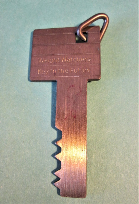 "OMG Remember These?  3 1/2"" Thick Solid Brass Weight Watchers ""Key to the Future"""