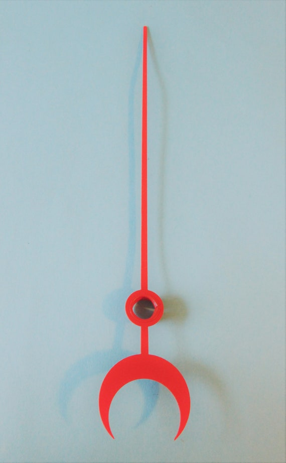 """7 1/2"""" Red Painted Steel Calendar Clock Hand for your Clock Projects and Etc.Stk # 617"""