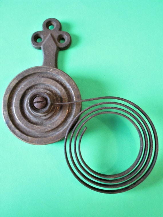 1 Large Antique Cast Metal Mantle Clock Gong Assembly for your Clock Projects - Altered Art