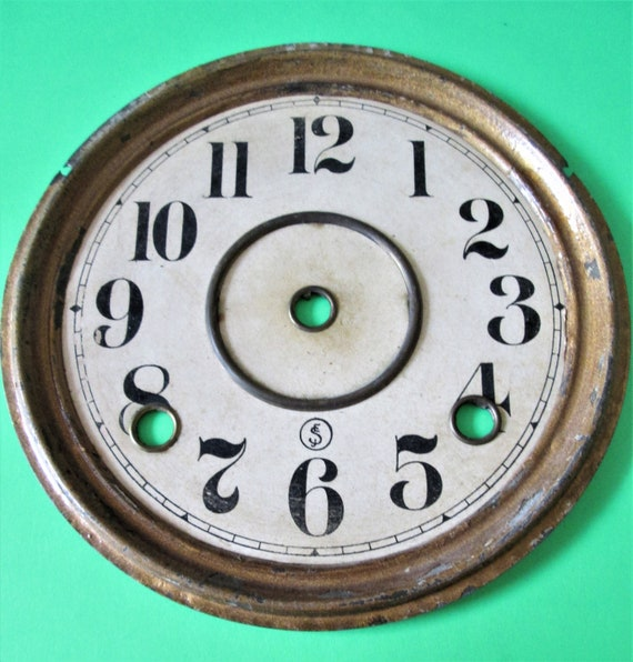 """6 1/4"""" Wide Paper on Metal Clock Dial for your Clock Projects, Steampunk Art...Stk#652"""