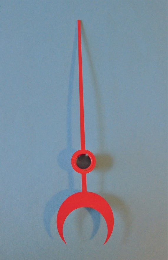 """6"""" Red Painted Steel Calendar Clock Hand for your Clock Projects and Etc.Stk # 616"""