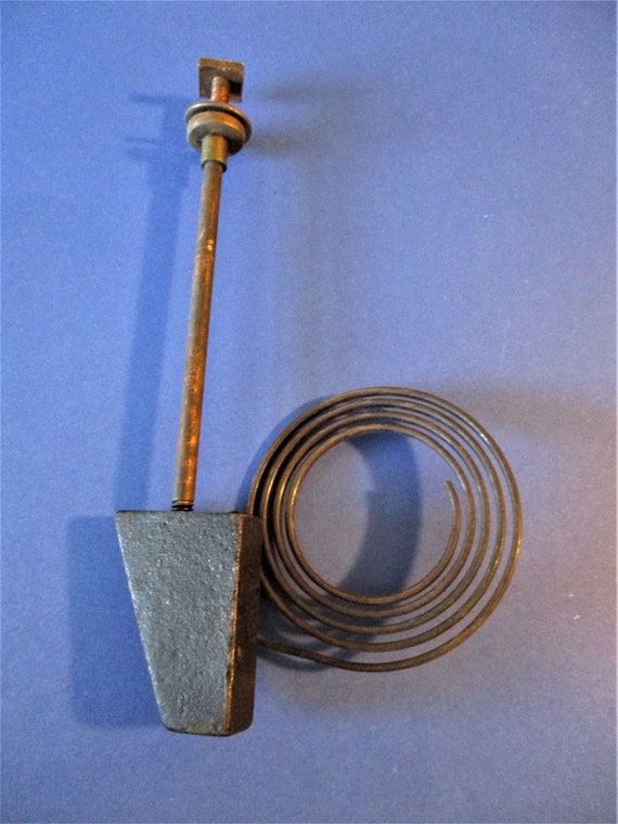 """6 3/4"""" Old Cast Iron and Steel Clock Gong Assembly for your Clock Projects Stk# 131"""