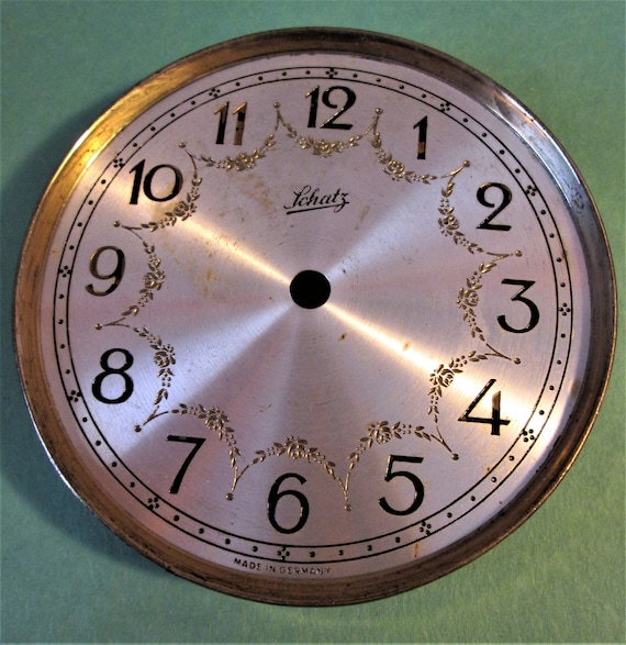 "Vintage 4"" German Made Schatz Anniversary Clock Dial for your Clock Projects, Steampunk Art. Stk#613"