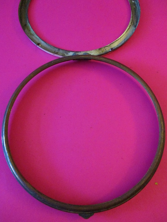 """6 1/2"""" Old Brass and Tin Double Bezel (No Glass) for your Clock Projects - Art - Stk # 368"""
