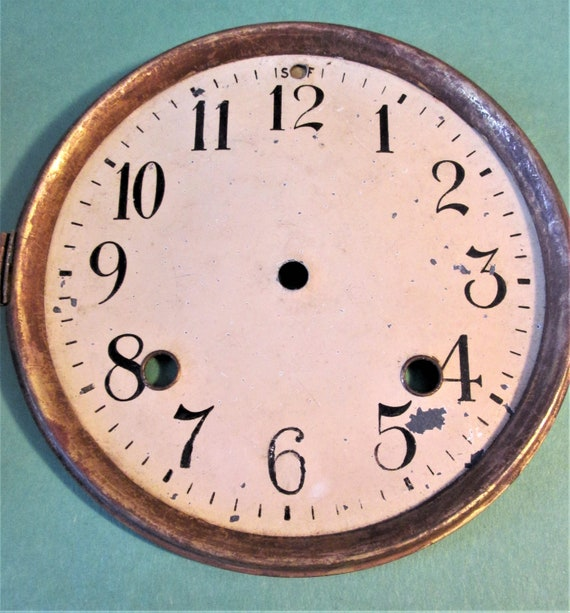 """5 3/4"""" Old and Tarnished Painted Brass Dial for your Clock Projects, Steampunk Art...Stk#612"""