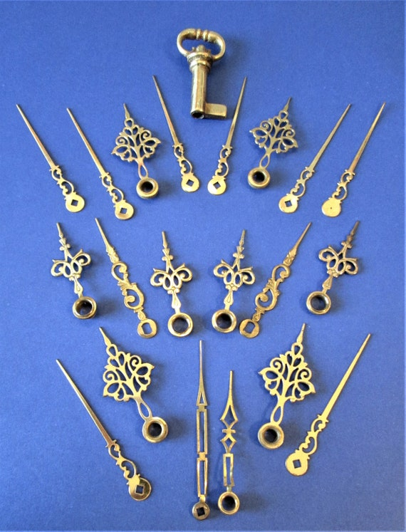 6 Pairs Of Vintage Solid Brass Fancy Clock Hands foryour Clock Projects, Jewelry Makin and Etc..Stk#251
