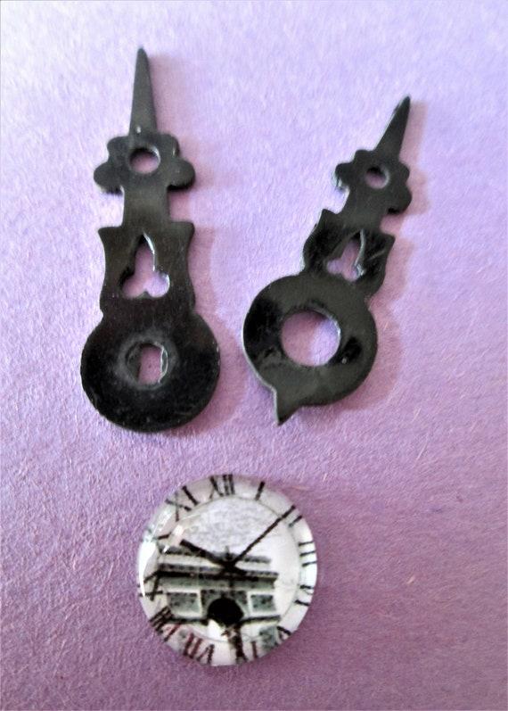 1 Pair of Small Black Plastic Cuckoo Clock Hands for your Cuckoo Clock Projects - Art -