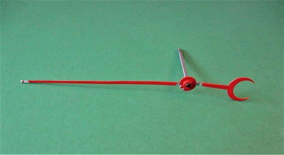 "5"" Red Painted Aluminum Calendar Clock Hand with a 1 3/4"" Shaft  Stk# 05"