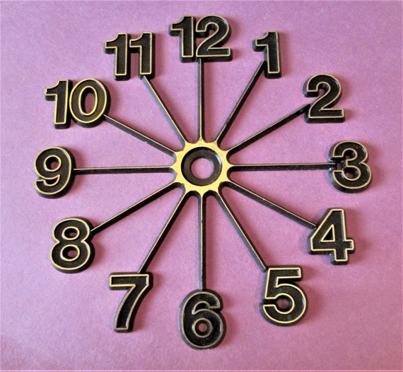 """1  4"""" Thick Plastic Clock Dial Press On for your Clock Projects, Scrap Booking, Steampunk Art Stock#66"""