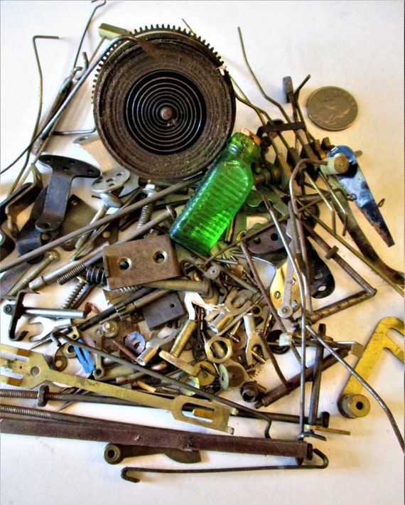 Lot of Assorted Antique & Vintage Solid Brass and Steel Clock Parts for your Clock Projects - Art -  Stk# 327