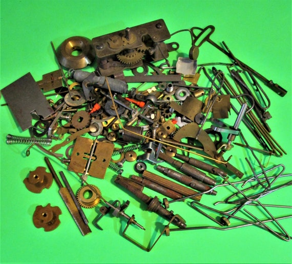 Nice Steampunkers Lot of Brass, Steel and Chrome Vintage Clock Parts & Hardware for Your Clock Projects - Crafts Stk# 954