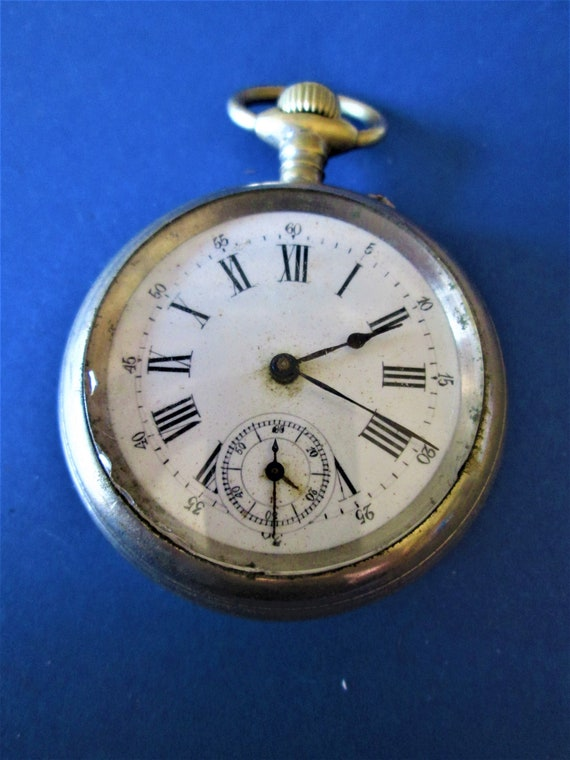 1 Antique Elgin Brand Pocket Watch for Repairs / Parts Serial #373104 Stk#W39