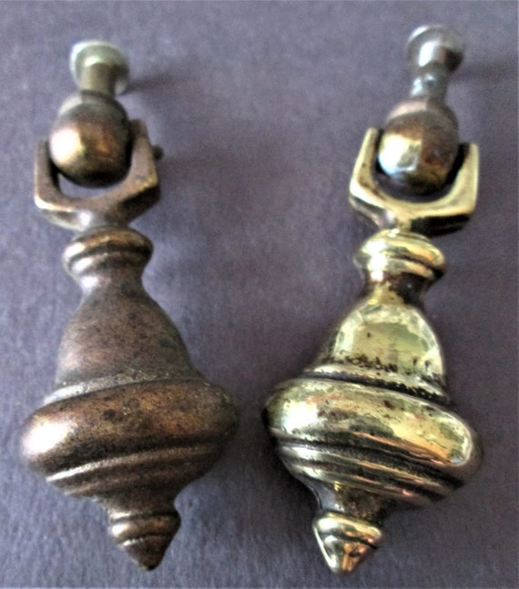 2 Old Solid Cast Metal Furniture Pulls with Hardware for your Prodects - Steampunk Art & Etc..Stk#559