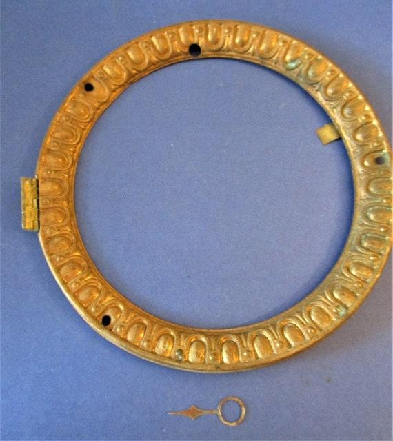"5"" Antique Fancy Pressed Copper Front Clock Bezel - No Glass - Stk# 287"