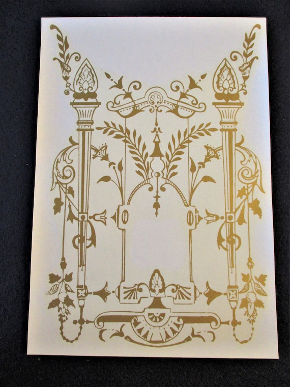 """New Beautiful 8"""" x 6"""" Fancy Kitchen Clock Glass Decal - Gold in Color -"""