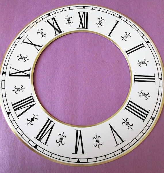 "7 1/4"" New Fancy Fluer De Lys Style Clock Dial Ring for your Clock Projects, Crafts & Etc..."