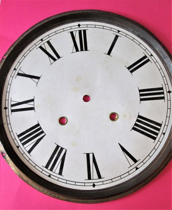 """10 1/2"""" Old Clock Dial with Roman Numerals for your Clock Projects & Etc.. Stk#158"""