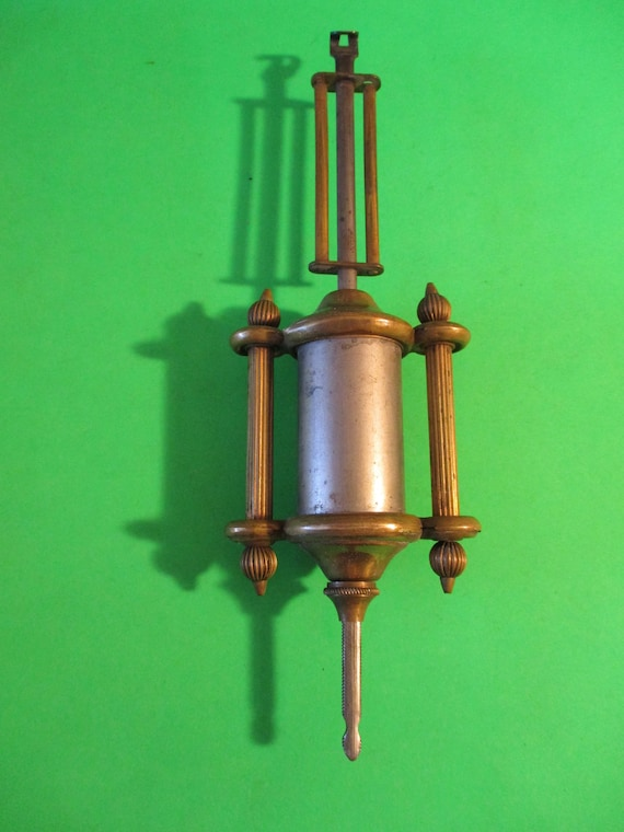 """7 1/4"""" Antique Single Barrel Design Solid Brass and Steel Clock Pendulum for your Clock Projects - Art - Stk# 744"""