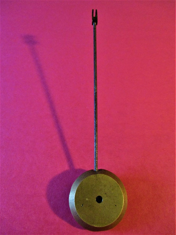 """6"""" Solid Brass and Steel Pendulum 2.1 Ounce for your Clock Projects - Art - Stk# 120"""