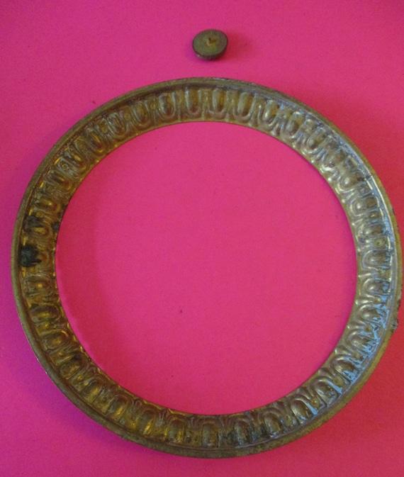 "5 1/2"" Antique Fancy Pressed Solid Brass Front Clock Bezel - No Glass - Stk# 293"
