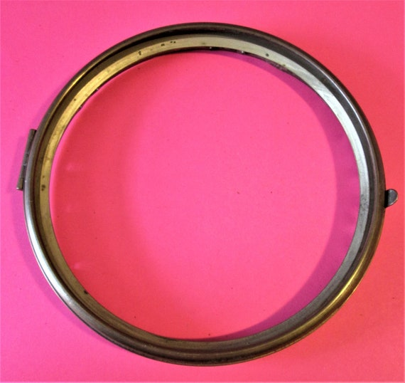"6 1/4"" 2 Piece Solid Brass and Tin Clock Bezel for your Clock Projects and Etc..Stk#866"