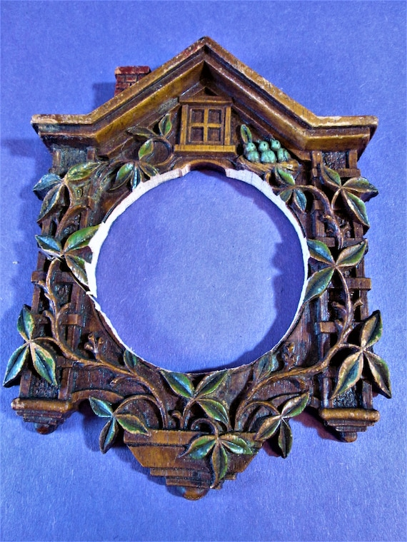 1 Small Cuckoo Clock Frame Reproduction in Cast Resin for your Clock Projects - Steampunk Art - Framing and Etc..Stk#936