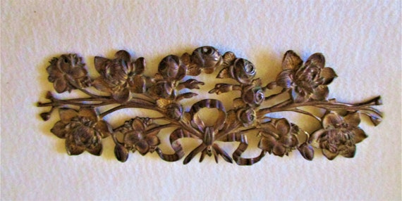 """7 1/2"""" Antique Cast Brass Clock Case/Furniture Ornament Stk# 840"""