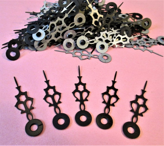 "125 Vintage 2 1/4"" Black Steel Serpentine Design Hour hands for your Clock Projects, Jewelry Making, Steampunk Art, Crafts  Etc..Stk#26"