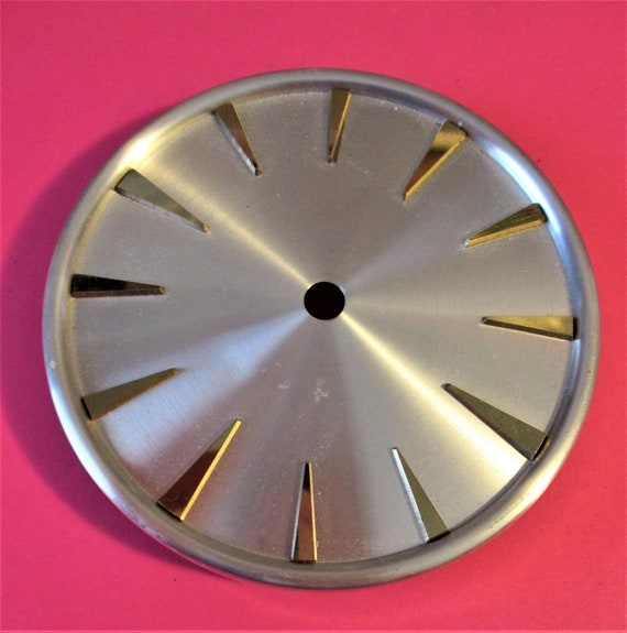 """3 1/2"""" Steel and Brass Anniversary Clock Dial for your Clock Projects, Steampunk Art...Stk#601"""