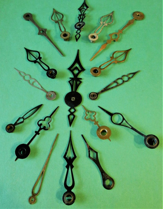 17 Assorted Antique Fancy Clock Hands for your Clock Projects, Steampunk Art, Jewelry Making and etc B100