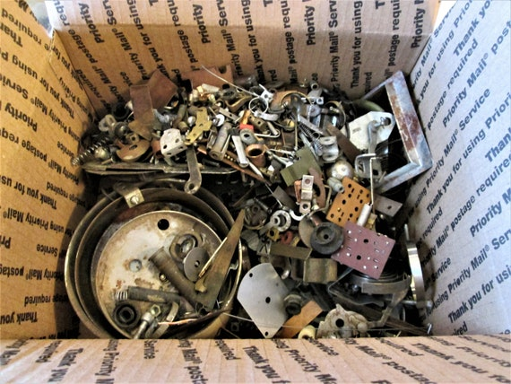 Junk? Treasure? You Decide 10 Pounds of Assorted Clock & Alarm Clock Parts + Hardware + Stuff for your Steampunk Masterpiece!