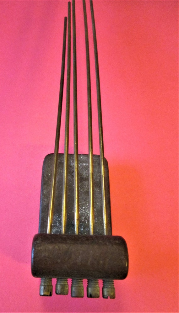 1 Large Antique Brass and Cast Metal Chime Bar for your Clock Projects