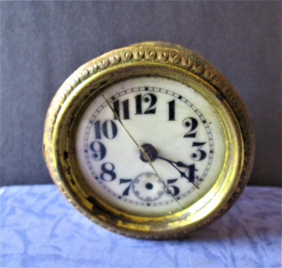 "Nice Fancy Small 2 1/2"" Partial Antique Clock for your Clock Projects, Steampunk Art and Etc... Stk# 519"