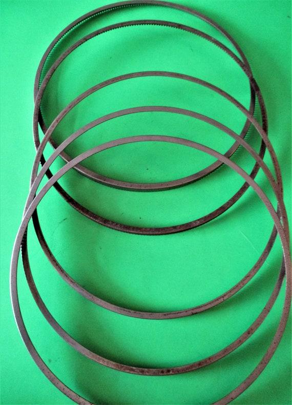 """5 Vintage Steel 7"""" Barometer or Clock Bezels - No Glass - Stk# 378"""