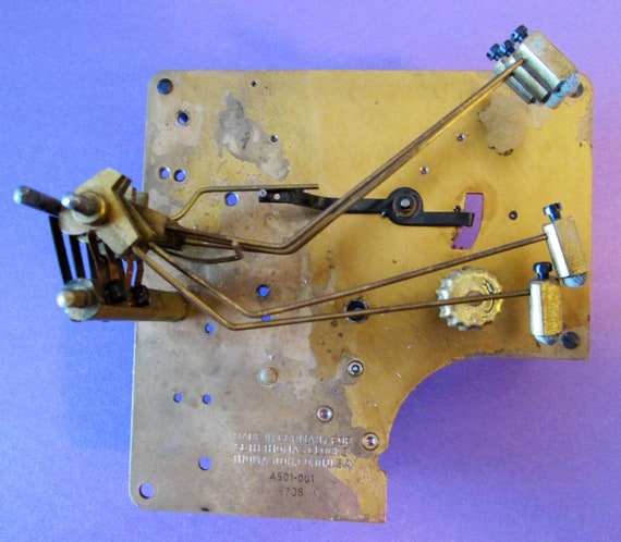 "Partial Antique Seth Thomas 4 1/2"" x 4 1/2"" Clock Frame with Attached Parts for your Clock Projects, Steampunk Art and Etc.."