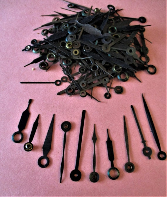 100+ Vintage Plain Design Steel Clock Hands for your Clock Projects and Etc.. Stk# 351