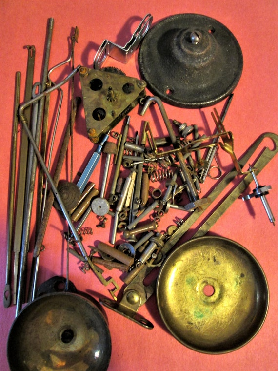 Nice Lot of Assorted Antque and Vintage Clock Parts & Hardware for your Clock Projects - Steampunk Art Stk# 959