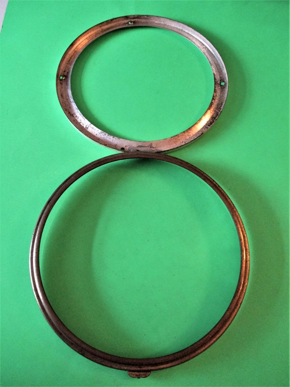 """5 1/2"""" Solid Brass and Tin Double Bezel (No Glass) for your Clock Projects - Art - Stk# 290"""