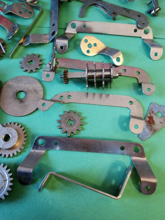 Nice Lot of Steel and Chrome Vintage Clock Parts & Hardware for your Clock Projects, Steampunk Art, Jewelry Making and Etc..