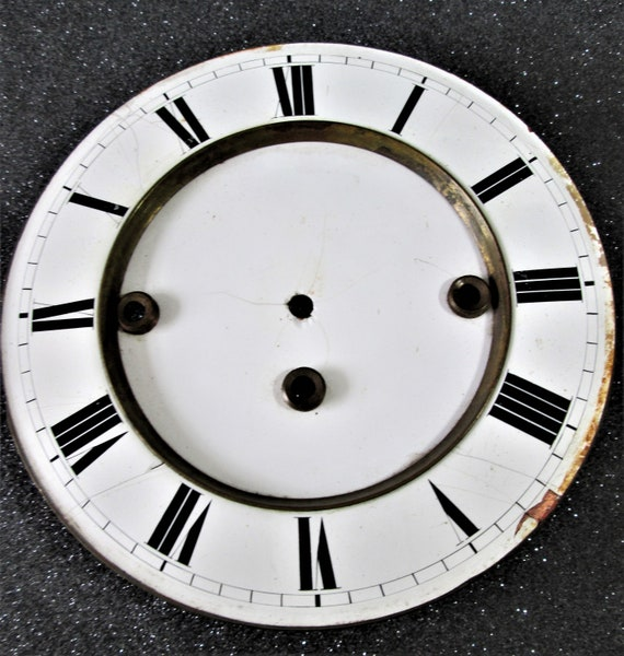 "6 3/4"" Antique Ansonia Style Porcelain Clock Dial for your Clock Projects - Art - Stk# 375"